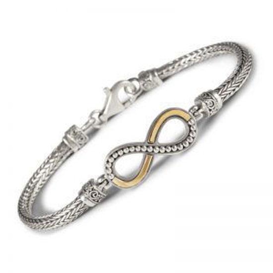 Image sur Bracelet infini en argent 925 et or de la Collection L'Aventurine