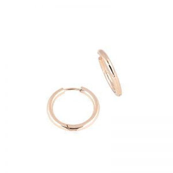 Image sur Boucles d'oreilles en acier inoxydable or rose de la Collection L'Aventurine