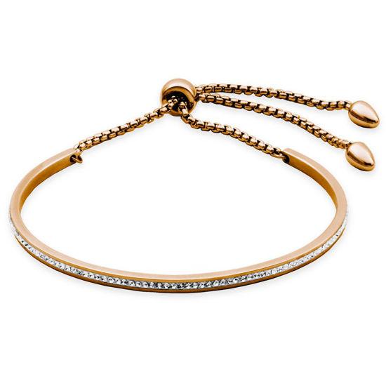 Image sur Bracelet rigide en acier inoxydable rose de la Collection Steelx