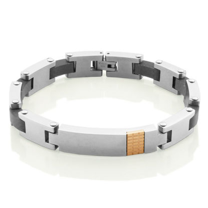 Image de Bracelet en acier inoxydable et rose de la Collection Steelx