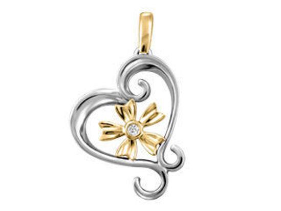 Image sur Collier en or jaune et blanc avec diamant