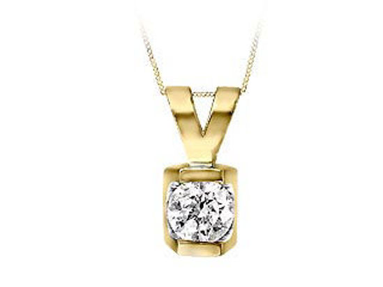 Image sur Collier en or jaune avec diamant