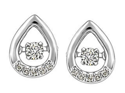 Image de Boucles d'oreilles en or blanc avec diamants dansants