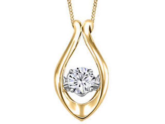 Image sur Collier en or jaune avec diamant dansant
