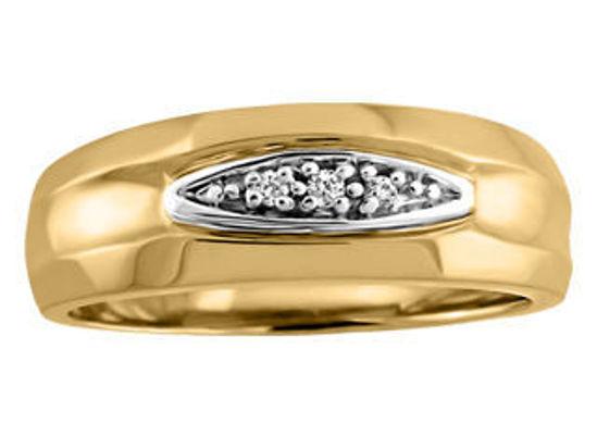 Image sur Bague en or jaune et blanc avec diamants