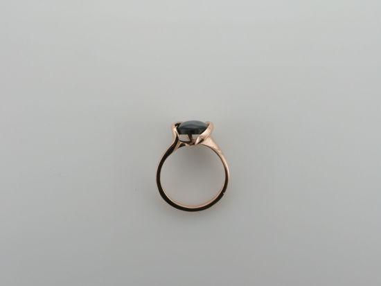 Image sur Bague en or rose 10KT avec perle noire de Tahiti