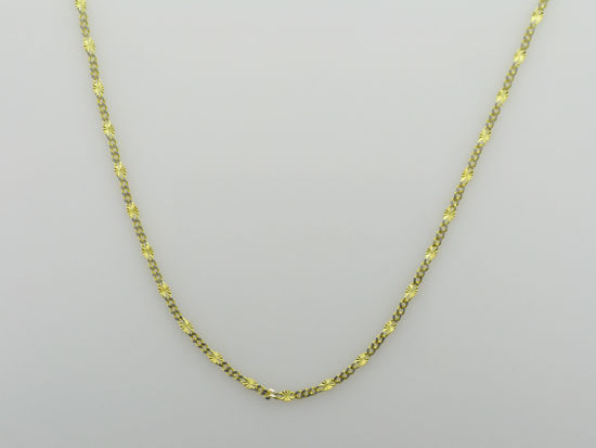"""Image sur Chaîne de Fantaisie 18"""" en or jaune et blanc"""
