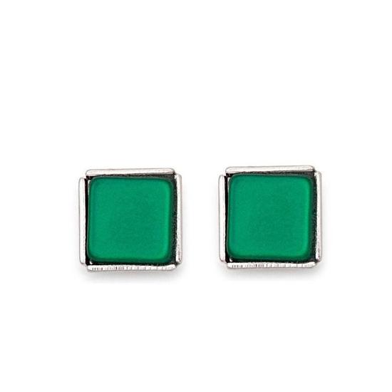 Image sur Boucles d'oreilles verte de la Collection Cœur de lion