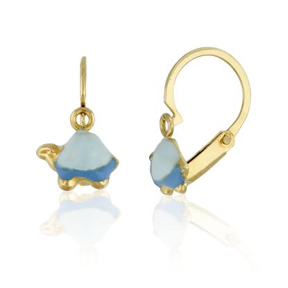 Image de Boucles d'oreilles en or jaune avec tortue