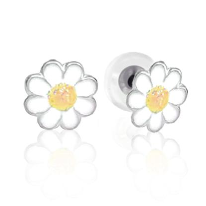 Image de Boucles d'oreilles fleur en argent 925