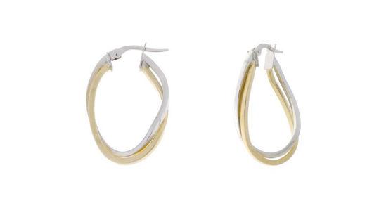 Image sur Boucles d'oreilles en or jaune et blanc