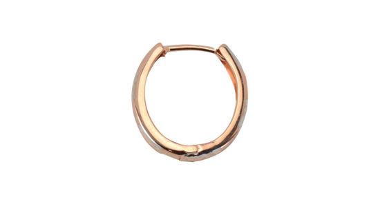 Image sur Boucles d'oreilles en or rose et blanc