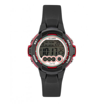 Image de Montre numérique rouge de la Collection Lee Cooper