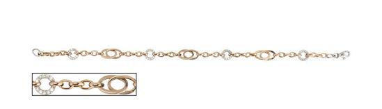 """Image sur Bracelet de Fantaisie 7 1/2"""" en or rose et blanc"""
