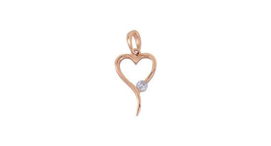 Image sur Pendentif cœur en or rose
