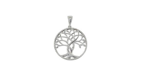 Image sur Pendentif arbre de vie en or blanc