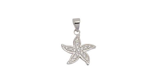 Image sur Pendentif étoile de mer en or blanc