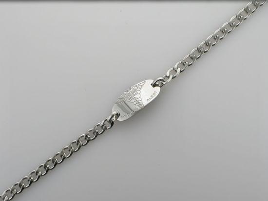 Image sur Bracelet médical Gourmette 7 1/2'' en acier inoxydable