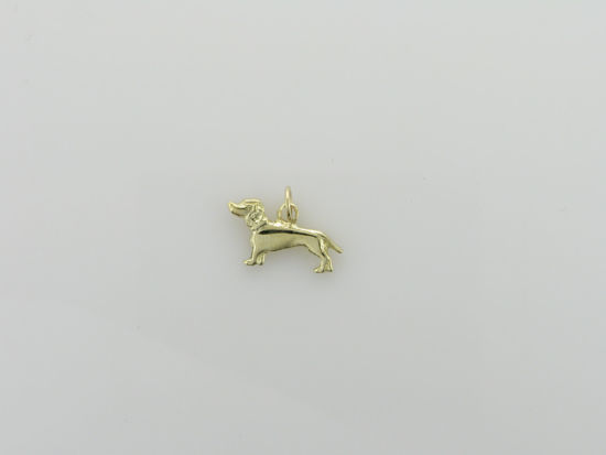 Image sur Pendentif chien en or jaune