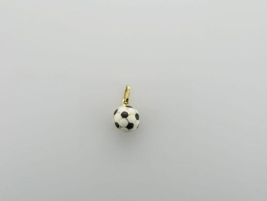 Image sur Pendentif ballon de soccer en or jaune