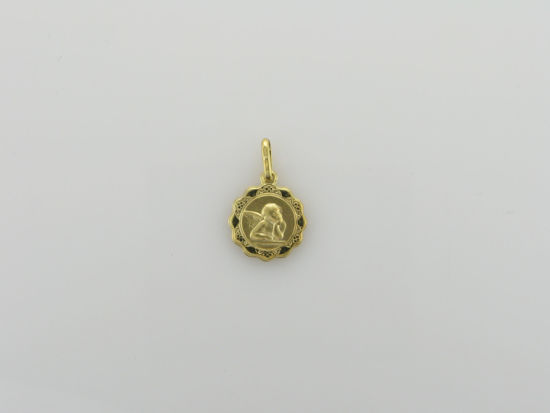 Image sur Pendentif médaille ange en or jaune