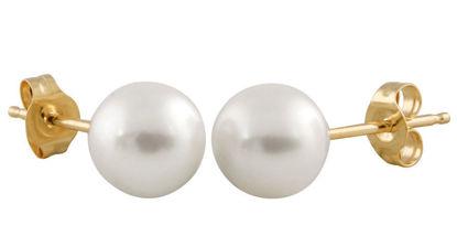 Image de Boucles d'oreilles perle d'eau douce 5.5mm
