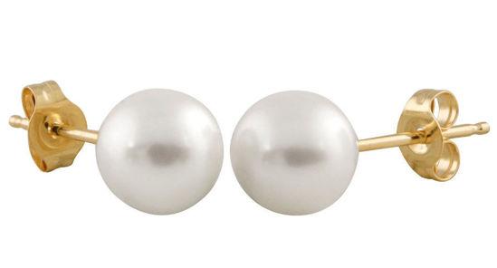 Image sur Boucles d'oreilles perle d'eau douce 5.5mm