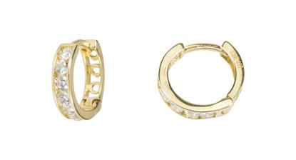 Image de Boucles d'oreilles en or jaune avec zircons cubiques