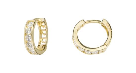 Image sur Boucles d'oreilles en or jaune avec zircons cubiques