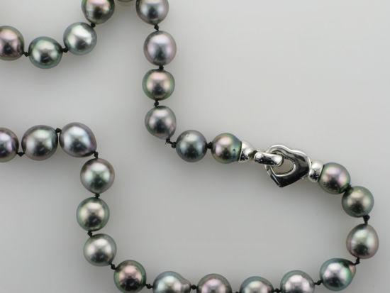 Image sur Collier de perles noires de Tahiti 19''