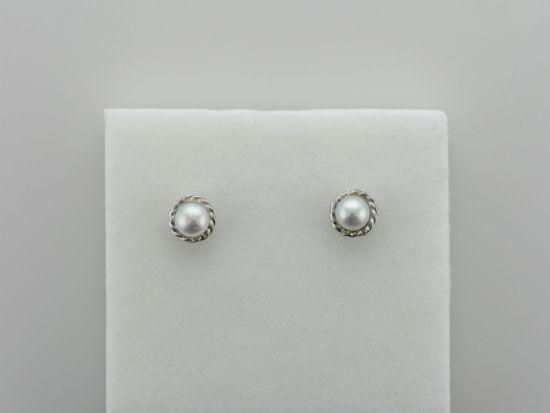 Image sur Boucles d'oreilles perles d'eau douce et or blanc