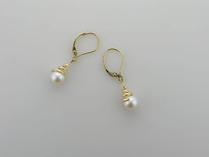 Image de Boucles d'oreilles perles d'eau douce et or jaune