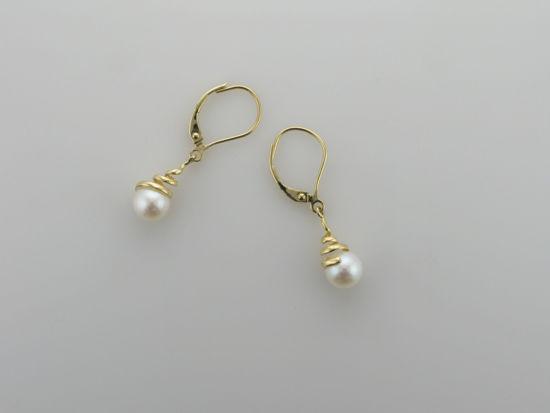 Image sur Boucles d'oreilles perles d'eau douce et or jaune