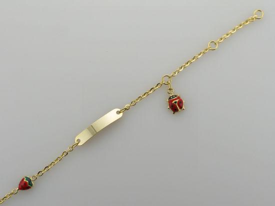 Image sur Bracelet avec plaque en or jaune