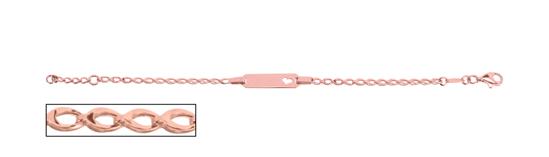 Image sur Bracelet avec plaque en or rose