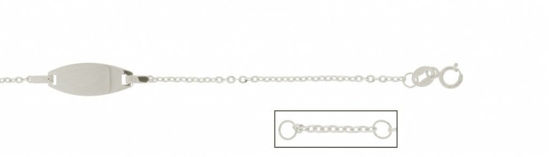 Image sur Bracelet avec plaque en or blanc