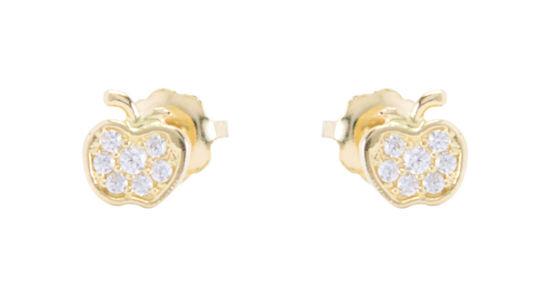 Image sur Boucles d'oreilles pomme en or jaune