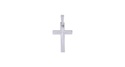 Image de Pendentif croix en or blanc