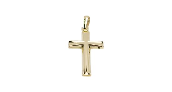 Image sur Pendentif croix en or jaune