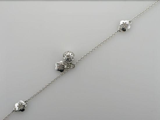 Image sur Bracelet fleurs en argent 925