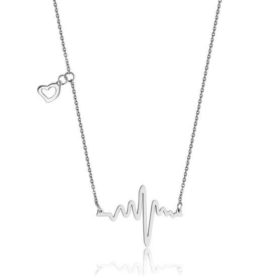 Image sur Collier rythme cardiaque en acier inoxydable de la Collection Steelx